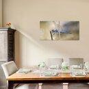 Libelle 50x50cm 2 Glasbilder Glasbild Echtglas Wandbild Deko