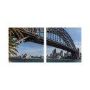 Brücke 50x50cm 2 Glasbilder Glasbild Echtglas...