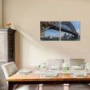 Brücke 50x50cm 2 Glasbilder Glasbild Echtglas Wandbild Deko