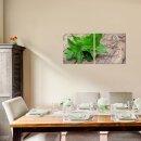 Minze 50x50cm 2 Glasbilder Glasbild Echtglas Wandbild Deko