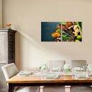 Gewürze 50x50cm 2 Glasbilder Glasbild Echtglas Wandbild Deko