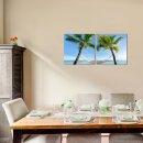 Palmen 50x50cm 2 Glasbilder Glasbild Echtglas Wandbild Deko