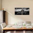 Motor 50x50cm 2 Glasbilder Glasbild Echtglas Wandbild Deko