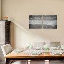 Brett 50x50cm 2 Glasbilder Glasbild Echtglas Wandbild Deko