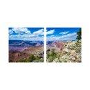 Wüste 50x50cm 2 Glasbilder Glasbild Echtglas...