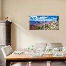 Wüste 50x50cm 2 Glasbilder Glasbild Echtglas Wandbild Deko