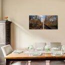 Schinen 50x50cm 2 Glasbilder Glasbild Echtglas Wandbild Deko