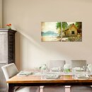 Haus 50x50cm 2 Glasbilder Glasbild Echtglas Wandbild Deko