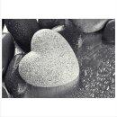 Herz 70x50cm Glasbilder Glasbild Echtglas Wandbild Deko