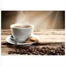 Kaffee 70x50cm Glasbilder Glasbild Echtglas Wandbild Deko