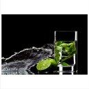 Limette 70x50cm Glasbilder Glasbild Echtglas Wandbild Deko