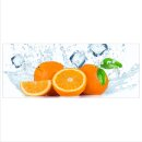 Orange Echtglas Glasbilder Glasbild Echtglas Wandbild...