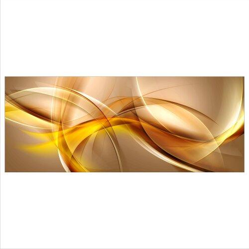 Abstrakt Echtglas Glasbilder Glasbild Echtglas Wandbild Deko 100x40 xxl