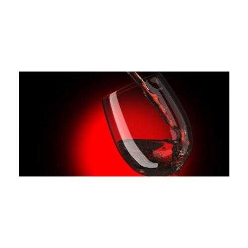 Wein Echtglas Glasbilder Glasbild Echtglas Wandbild Deko 120x60 xxl