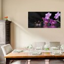 Orchidee Echtglas Glasbilder Glasbild Echtglas Wandbild Deko 120x60 xxl