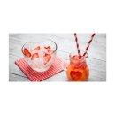 Erdbeere Echtglas Glasbilder Glasbild Echtglas Wandbild...