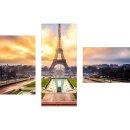 Dreiteiliges Wandbild 3 Teilig Glas Bild Deko Paris...