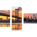 Dreiteiliges Wandbild 3 Teilig Glas Bild Deko USA...
