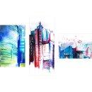 Dreiteiliges Wandbild 3 Teilig Glas Bild Glasbilder Deko...
