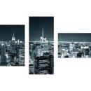 Dreiteiliges Wandbild 3 Teilig Glas Bild Deko New York...