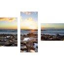 Dreiteiliges Wandbild 3 Teilig Glas Bild Deko Meer...